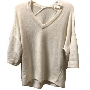 Double V sweater-Heather Wheat- Loft Outlet NWOT